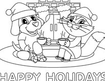 cocoa coloring sheet