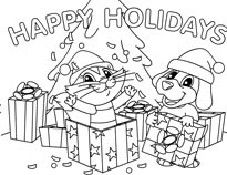 presents coloring sheet