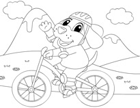 bicycle coloring sheet