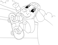 skateboard coloring sheet
